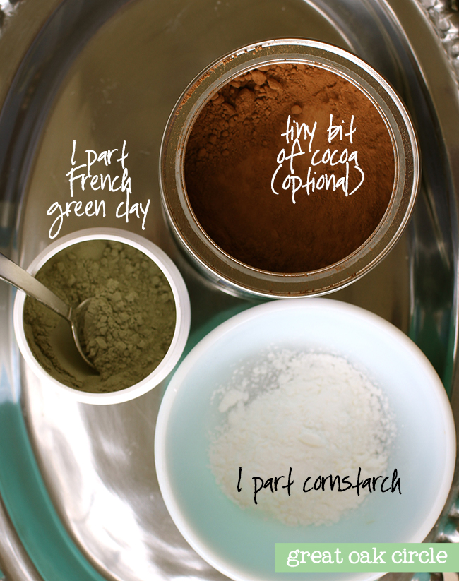 Diy loose facial powder