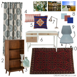 Marsala Office Mood Board