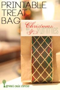 Free Printable: Paper Bag Topper