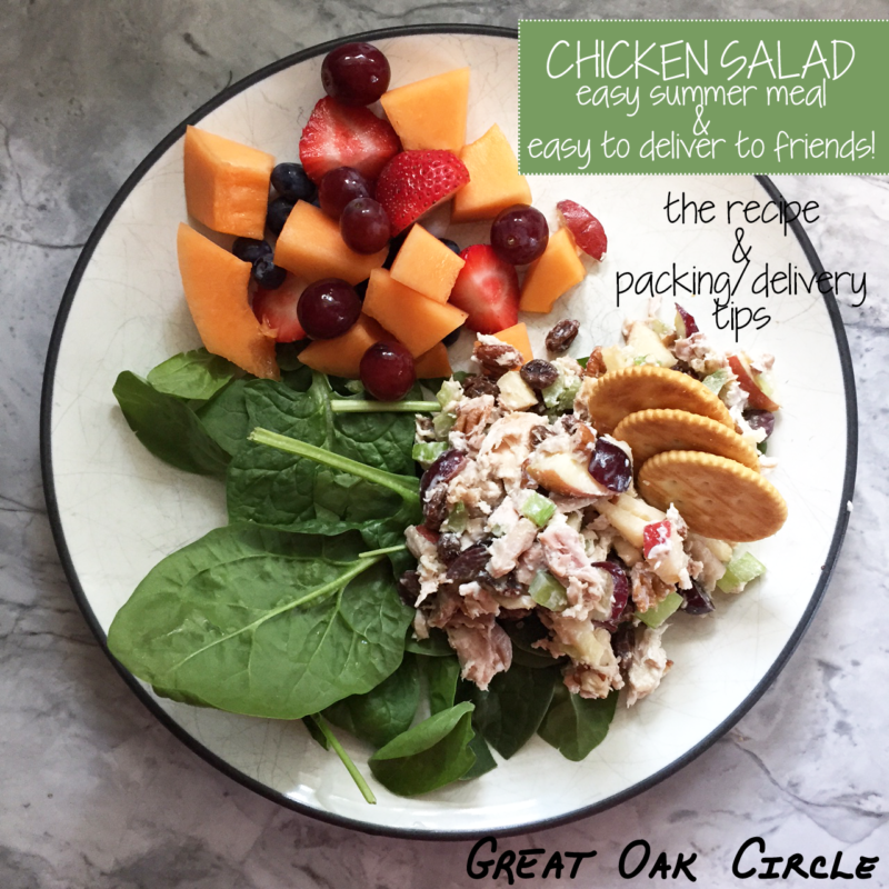 My summer go-to Chicken Salad recipe to take and share